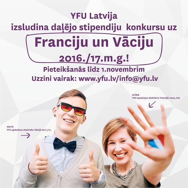 YFU stipendiju konkurss 2015